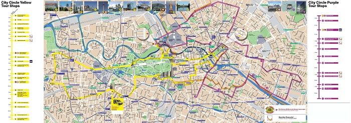 Berlin City Circle Sightseeing Bus Tour Map