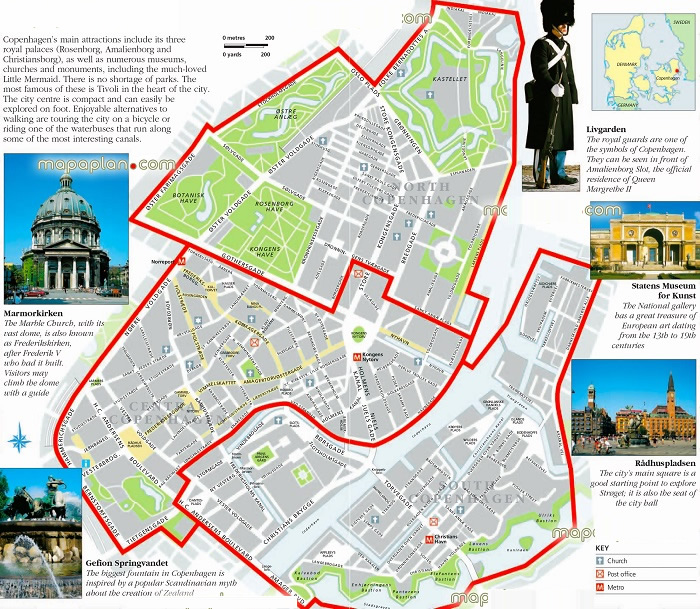 Copenhagen Tourist Map