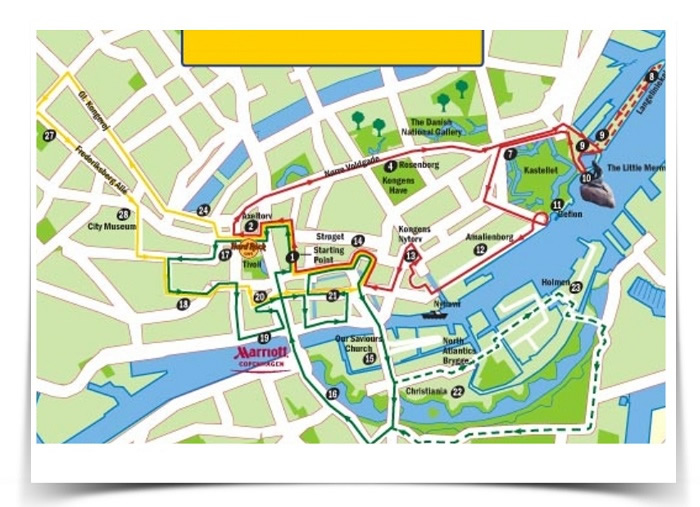 Copenhagen Walking Tour Map