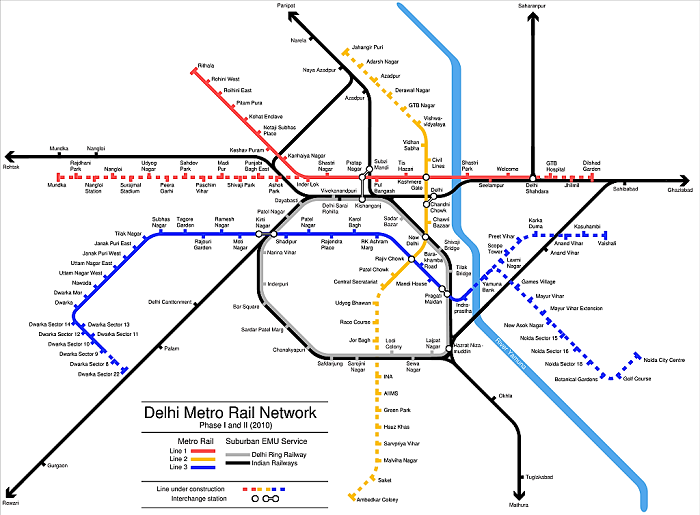 Delhi Transport Map
