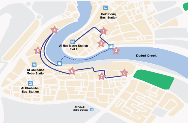 Dubai Walking Tour Map