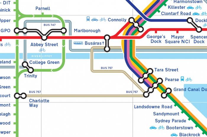 Dublin Metro Map