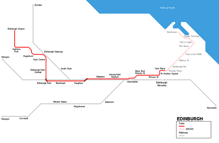 Edinburgh Metro Map