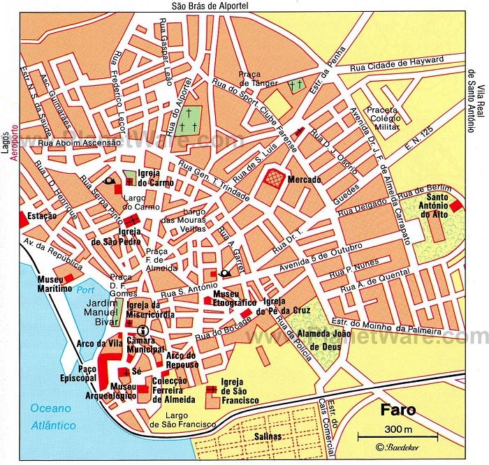 Faro Tourist Map