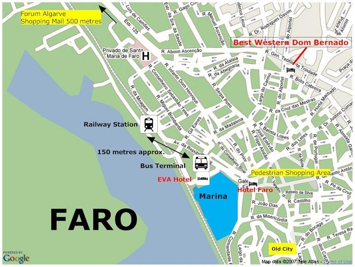 Faro Transport Map