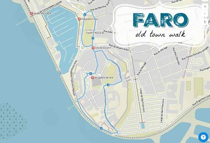 Faro Walking Tour Map