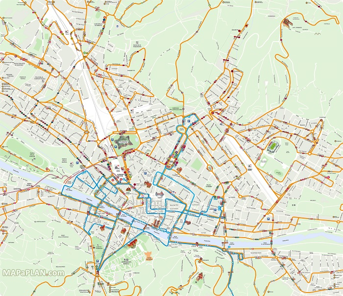 Florence Transport Map