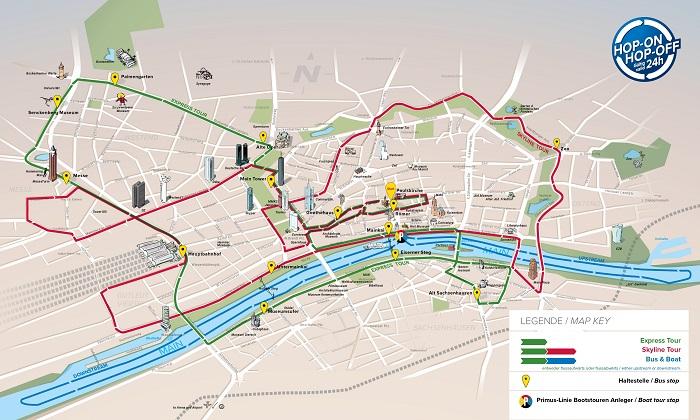 Frankfurt Hop on Hop Off Red Bus