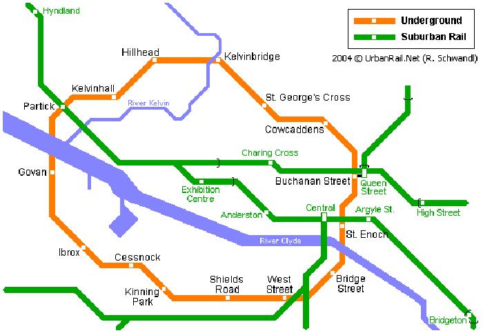 Glasgow Metro Map