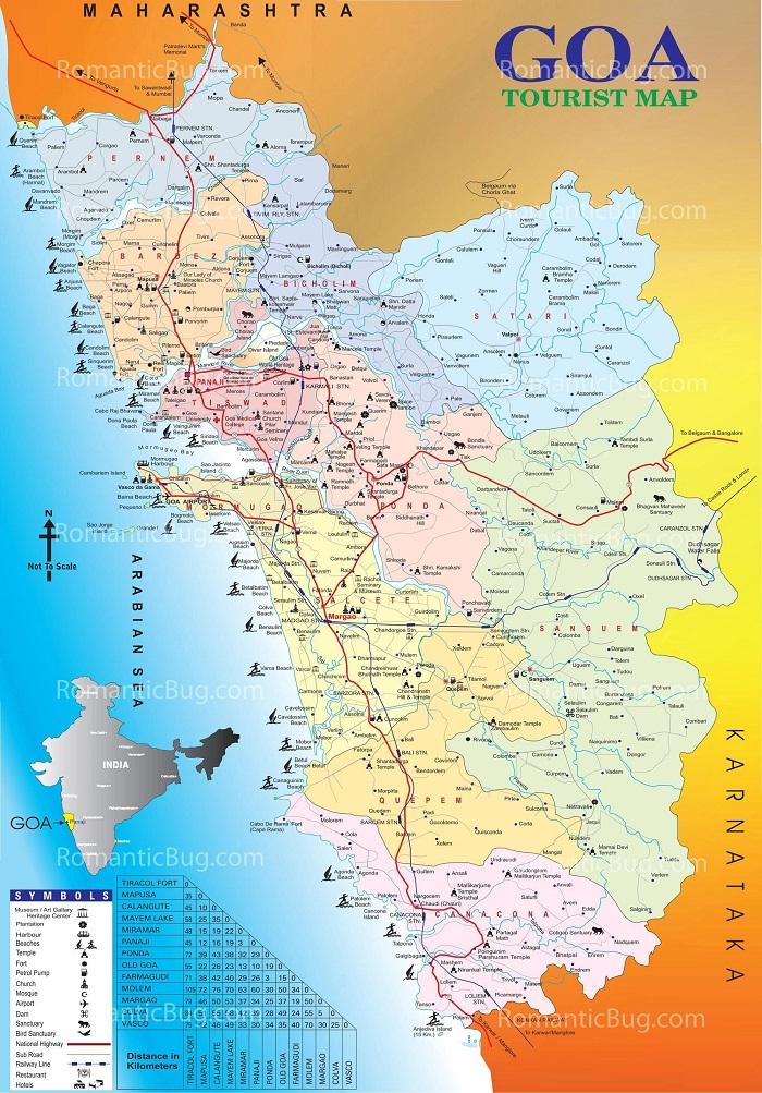 Goa Tourist Map