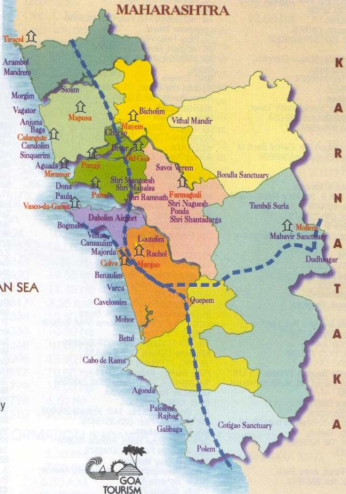 Goa Walking Tour Map