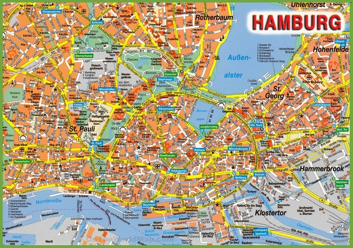 Hamburg Tourist Map