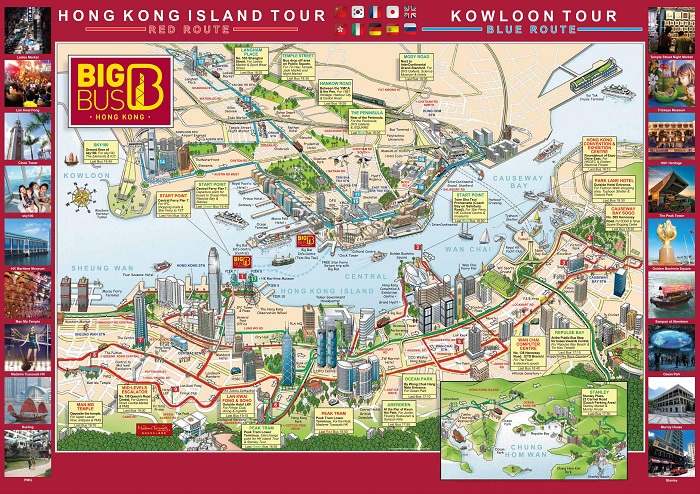 Hongkong Bigbus Hop-On Hop-Off Bus Tour Map