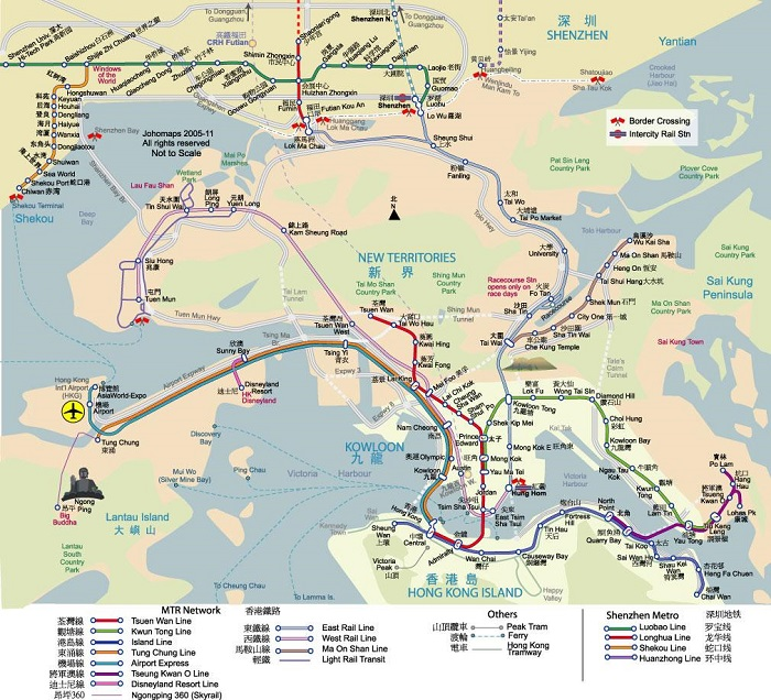 Hongkong Walking Tour Map