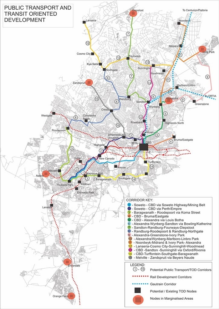 Johannesburg Transport Map