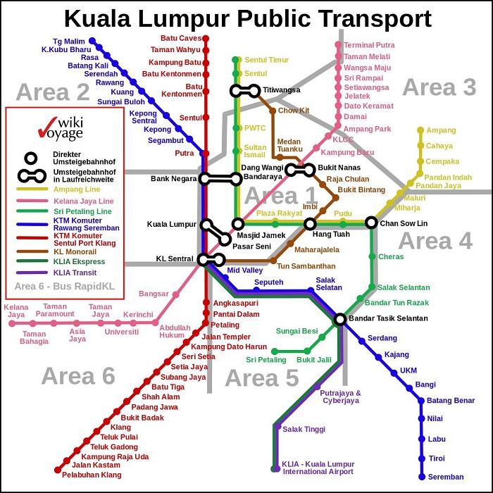 Kuala Lumpur lumpur Transport Map