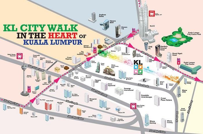 Kuala Lumpur Walking Tour Map