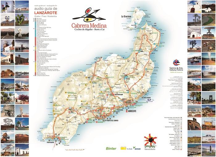 Lanzarote Tourist Map