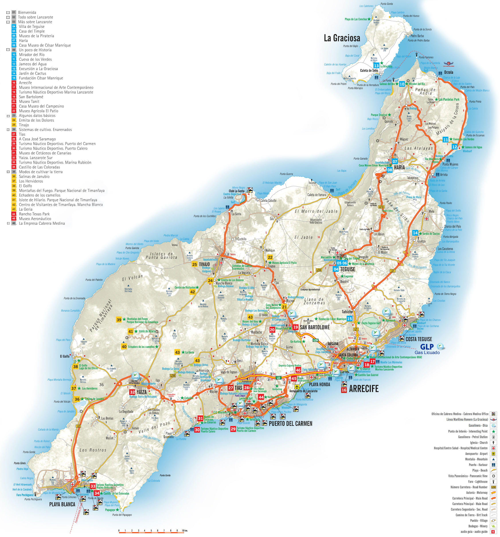 Lanzarote Transport Map