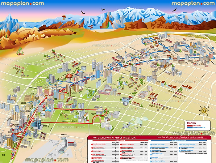Las Vegas Tourist Map