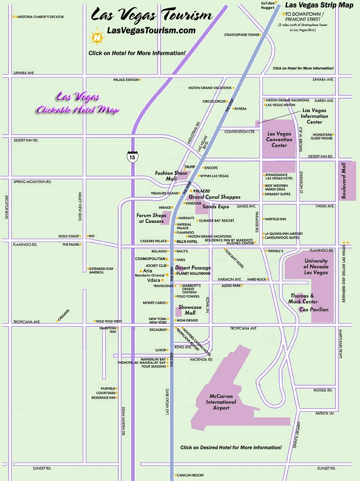 Las Vegas Walking Tour Map