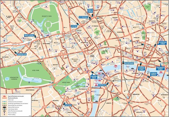 London Walking Tour Map