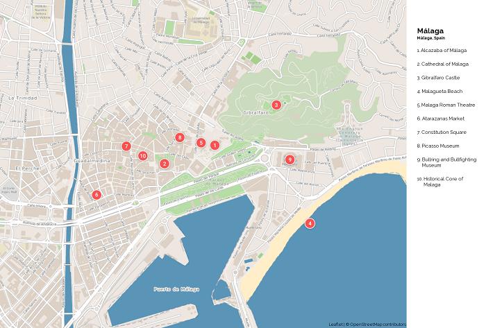 Malaga Tourist Map