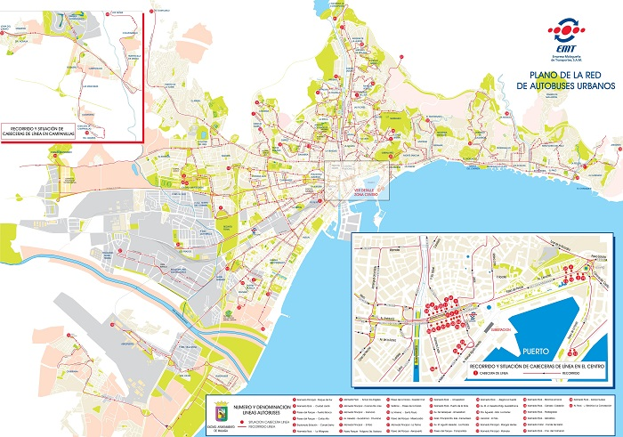 Malaga Transport Map