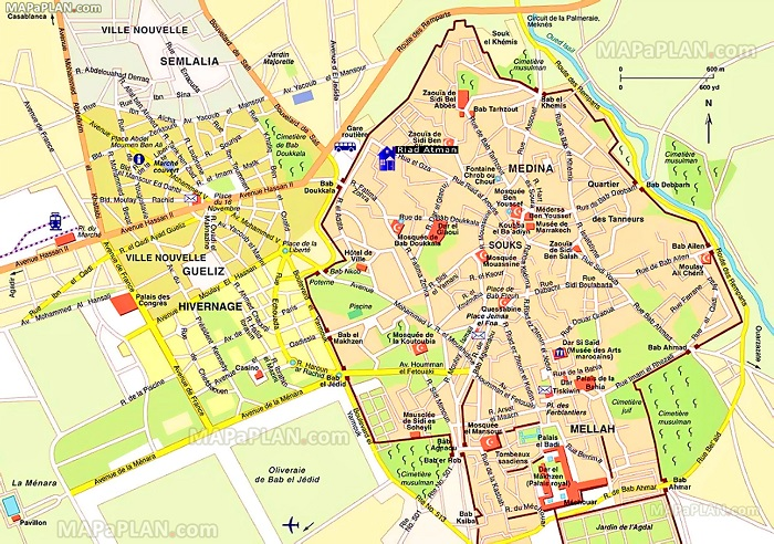 Marrakech Tourist Map