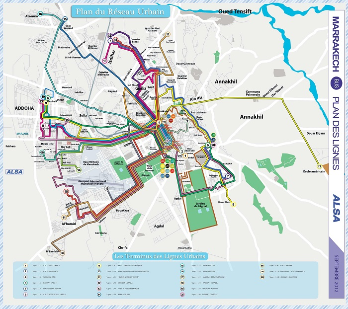 Marrakech Transport Map
