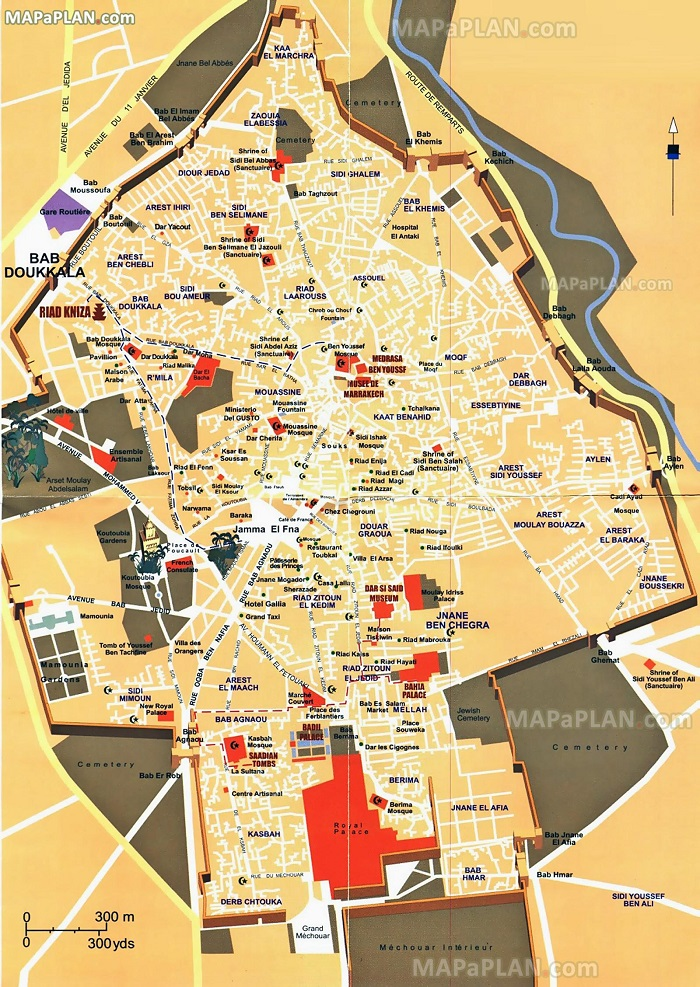 Marrakech Walking Tour Map