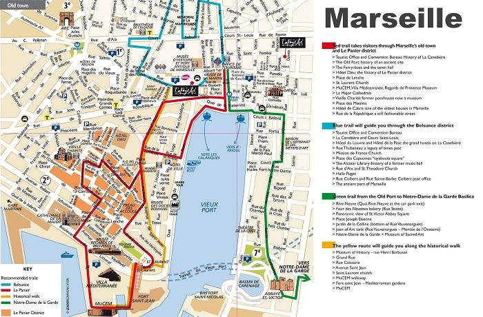 Marseille Walking Tour Map