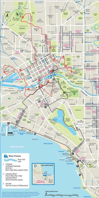 Melbourne Hop-On Hop-Off Bus Tour Map