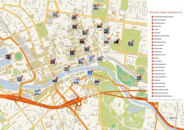 Melbourne Tourist Map