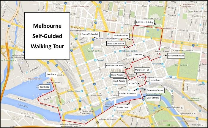 Melbourne Walking Tour Map