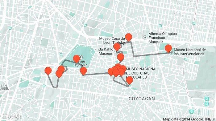 Mexico Walking Tour Map