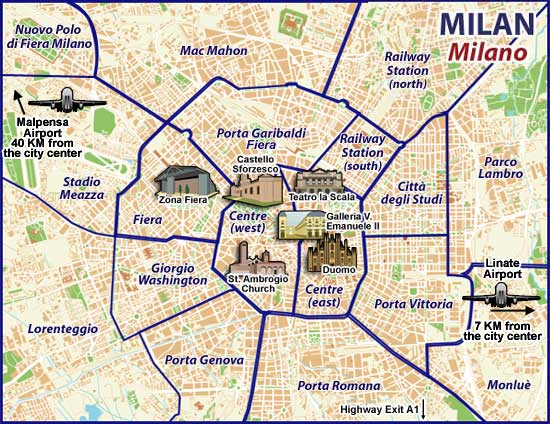 Milan Walking Tour Map