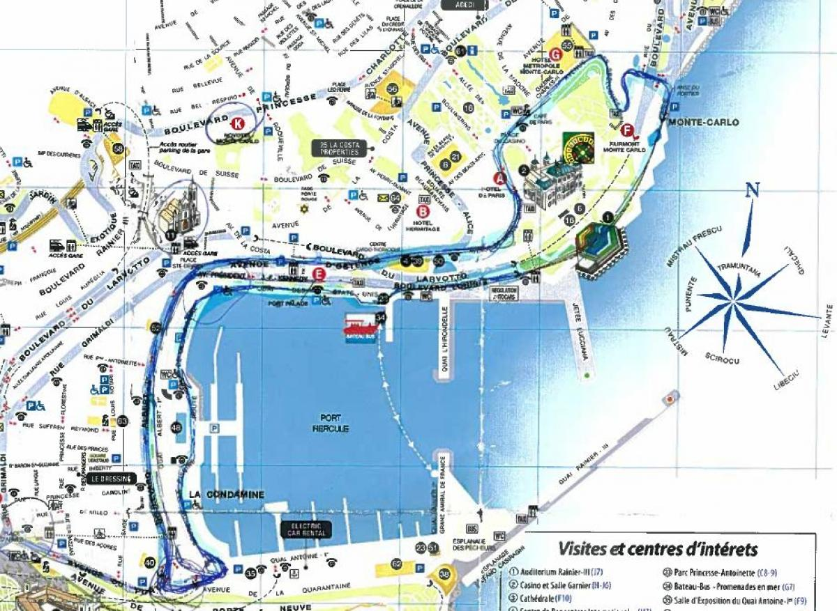 Monaco Walking Tour Map