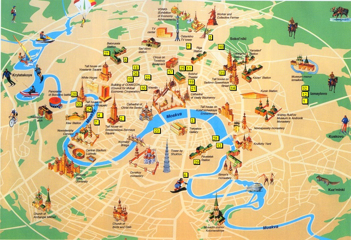 Moscow Tourist Map