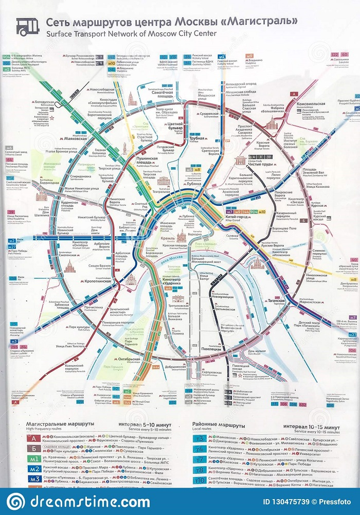 Moscow Transport Map