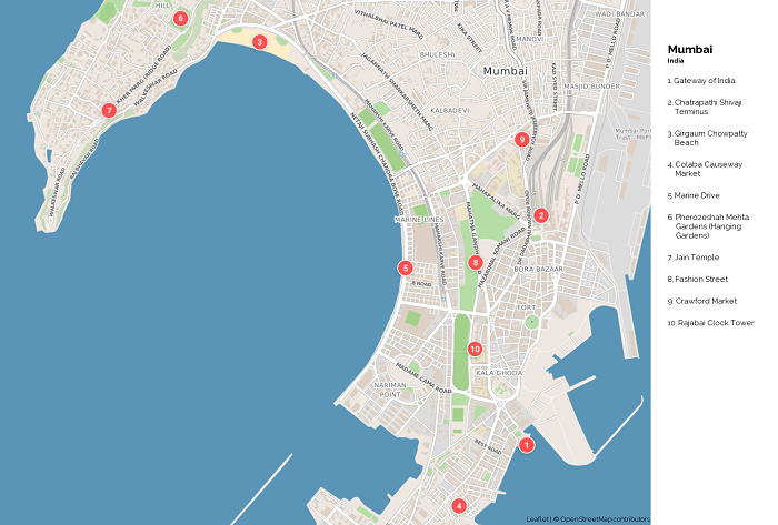 Mumbai Tourist Map