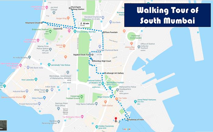 Mumbai Walking Tour Map