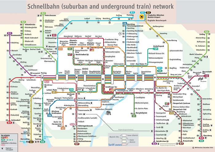 Munich Metro Map