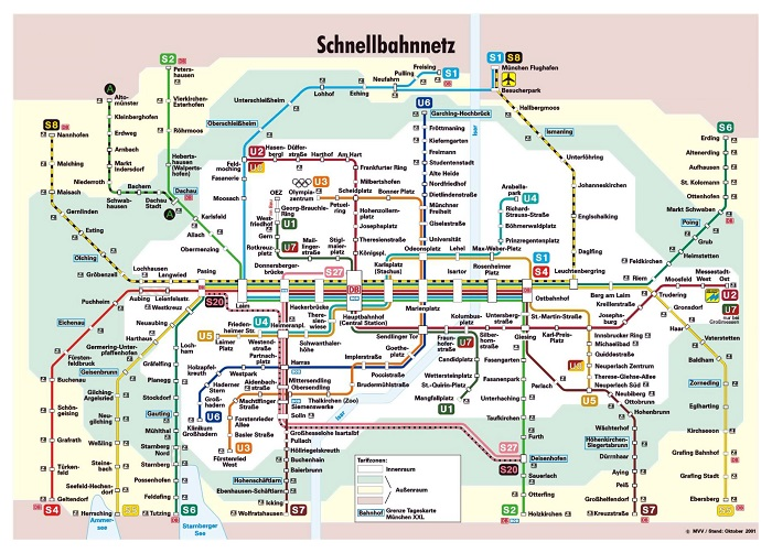 Munich Transport Map