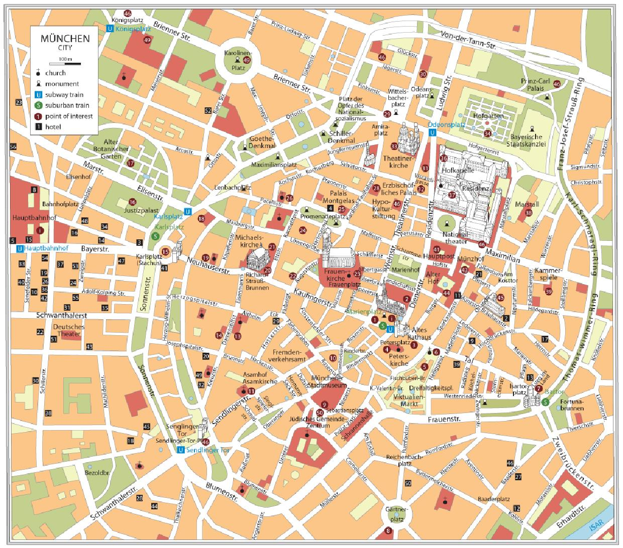 Munich Walking Tour Map