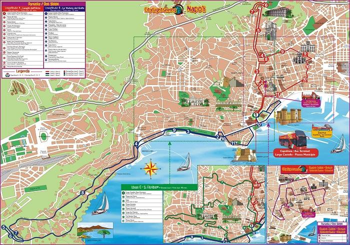 Naples Hop-On Hop-Off Bus Tour Map