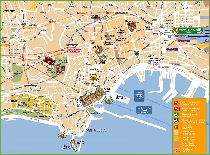 Naples Tourist Map