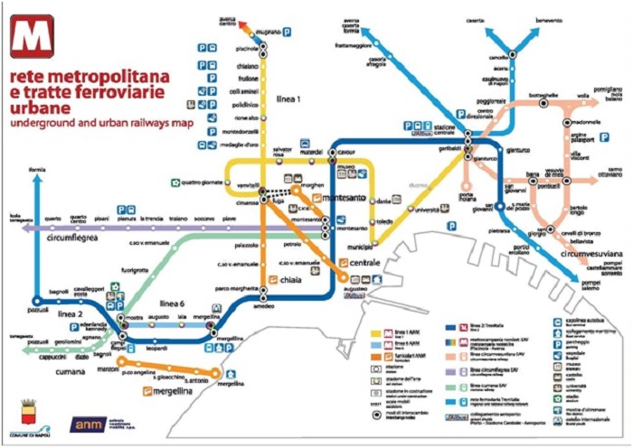 Naples Transport Map