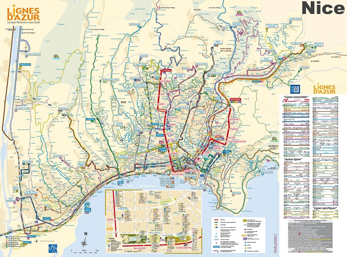 Nice Transport Map
