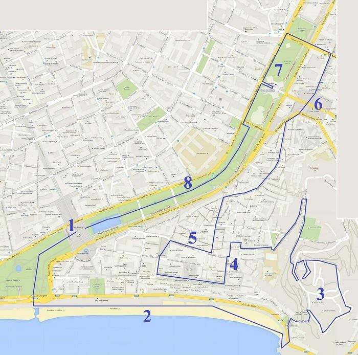 Nice Walking Tour Map